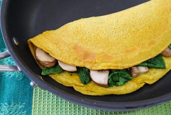 Vegan chickpea flour omelet