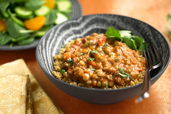 15-Minute Lentil curry dinner