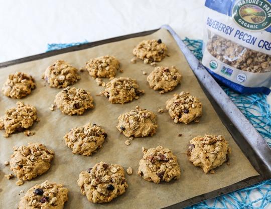 Vegan Peanut butter granola cookies recipe