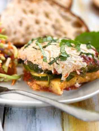 Polenta Zucchini casserole dinner