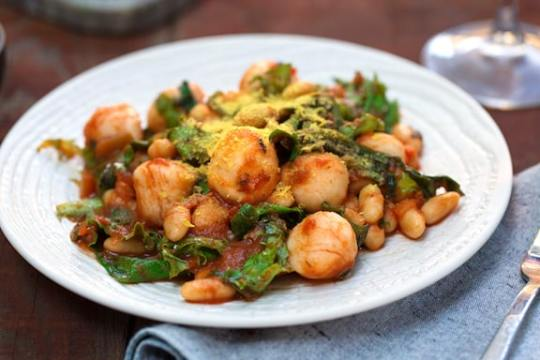 Quick Gnocchi with beans and greens