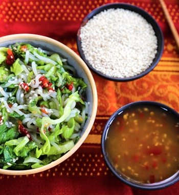 Cold shirataki noodle salad