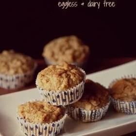 banana muffins, eggless banana muffins