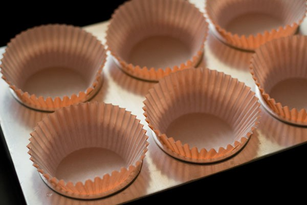 muffin liners in muffin tray