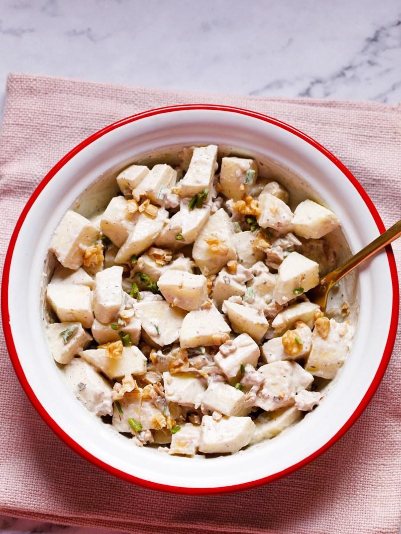 Apple Salad (With Walnuts) » Dassana's Veg Recipes