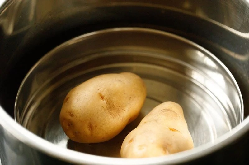 potatoes added to pan in an instant pot