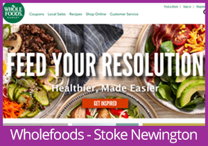 Wholefoods Market - Stoke Newington website
