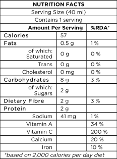 Broccoli Sprout + Beetroot Nutrition Facts