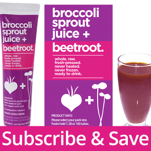 Subscribe Broccoli Sprout + Beetroot Juice