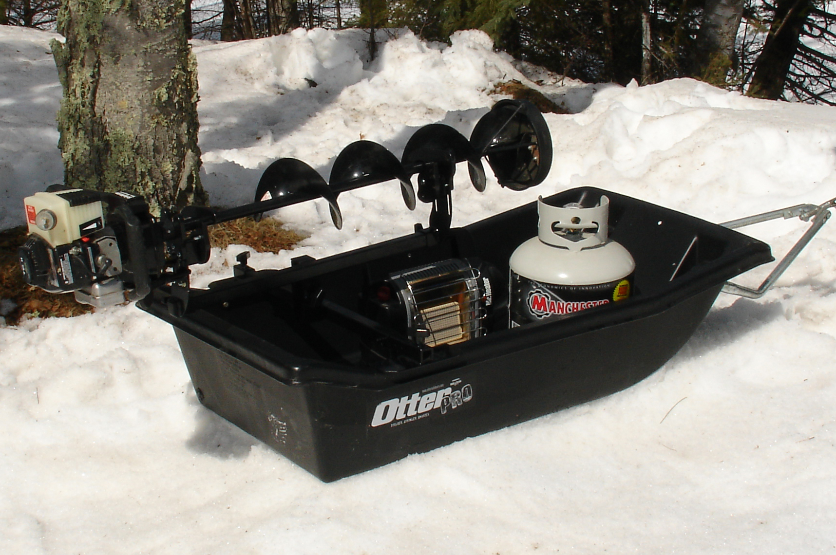 cart sled rail mount