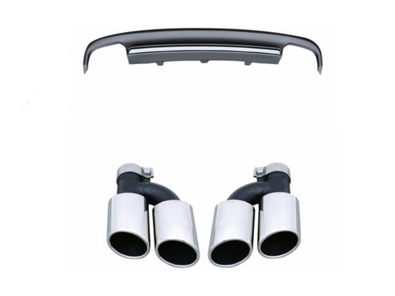 audi a7 s7 rear diffuser two pair exhaust outlet with exhaust tips 2012 2013 2014