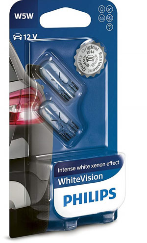 Philips 12961NBVB2 WhiteVision Effetto Xenon W5W