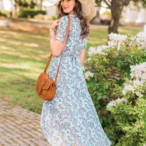 spring wrap dress