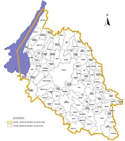 Cartina Politica Italia Verona.Verona Provincia Cartina Geografica Veja It