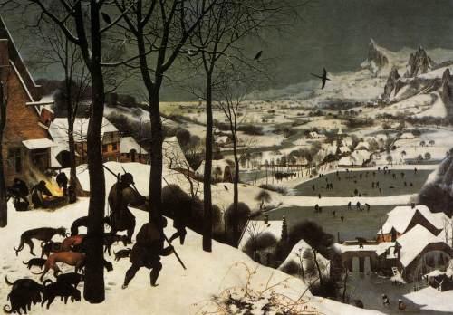 Pieter_Bruegel_tCacciatori nella neve