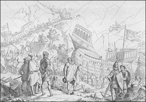 Giuseppe-gatteri-1438-la-flotta-venezian-attraversa-le-montagne-