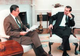 Ronald Reagan and Donald Rumsfeld, Washington,1983