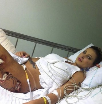 Andressa Urach no hospital UTI