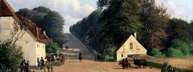 Andreas Juuel: Parti af Geels bakke ved Røjels Bom (1851) (Rudersdals Museer)