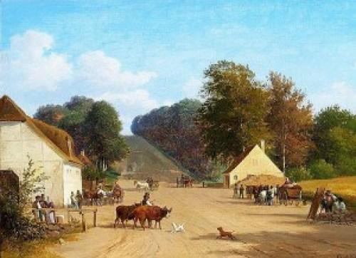Andreas Juuel: En sommerdag ved Geels Bakke nær Holte (1856)