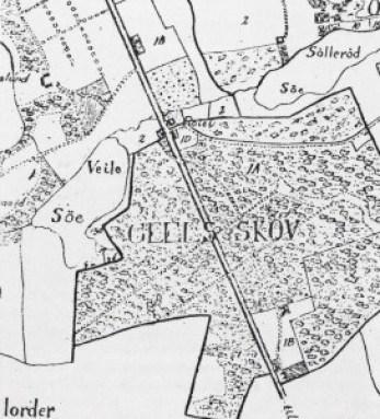 """Udsnit af Sterm´s """"Kort over Søllerød Pastorat 1830"""""""