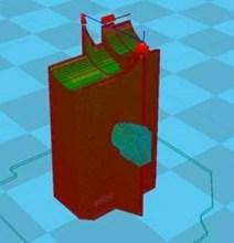G Code bestand voor 3D printen van eindstop blokje rolgeleiding
