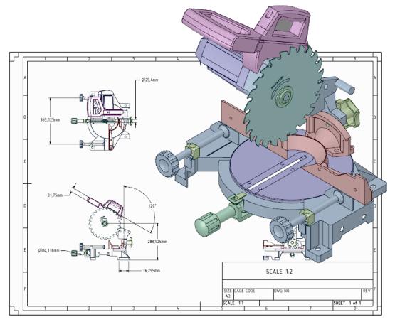 Spaceclaim werktekening