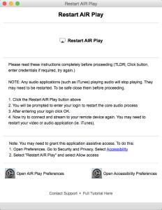Restart AIR Play
