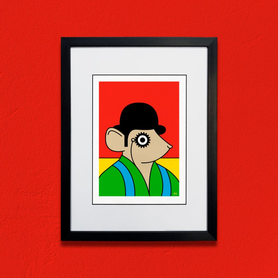 Framed Clockwork Orange Mouse giclée print