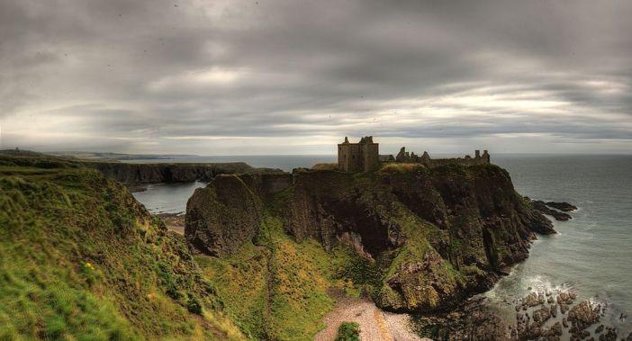 hrad pevnost dunnottar skotsko