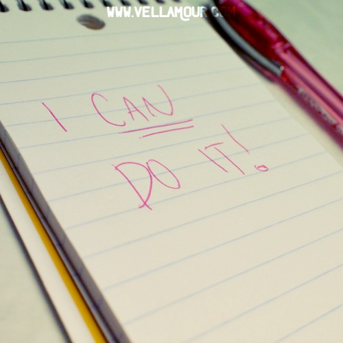 """A notebook that says """"I can do it"""""""