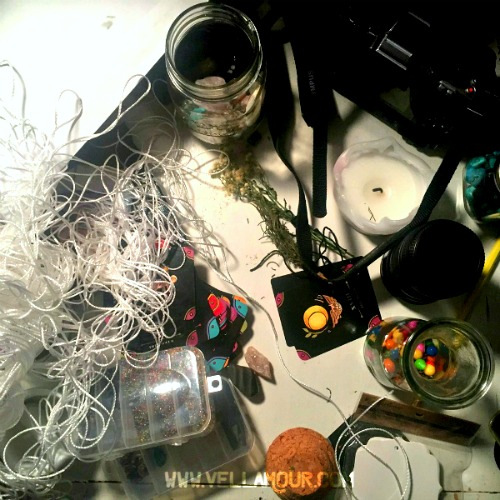 Confession #1: My altar is a mess, as always.