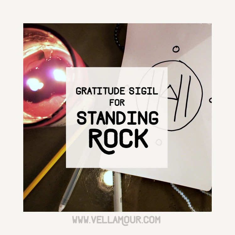 A gratitude sigil I created for the Standing Rock Sioux Tribe