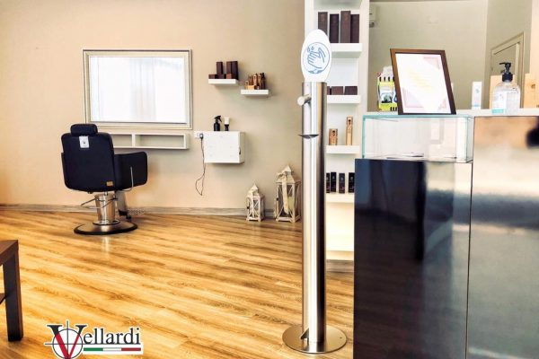 Dispenser Gel Vellardi a pedale inox ELLI HAIR SALON 24