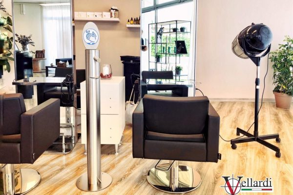 Dispenser Gel Vellardi a pedale inox ELLI HAIR SALON 25