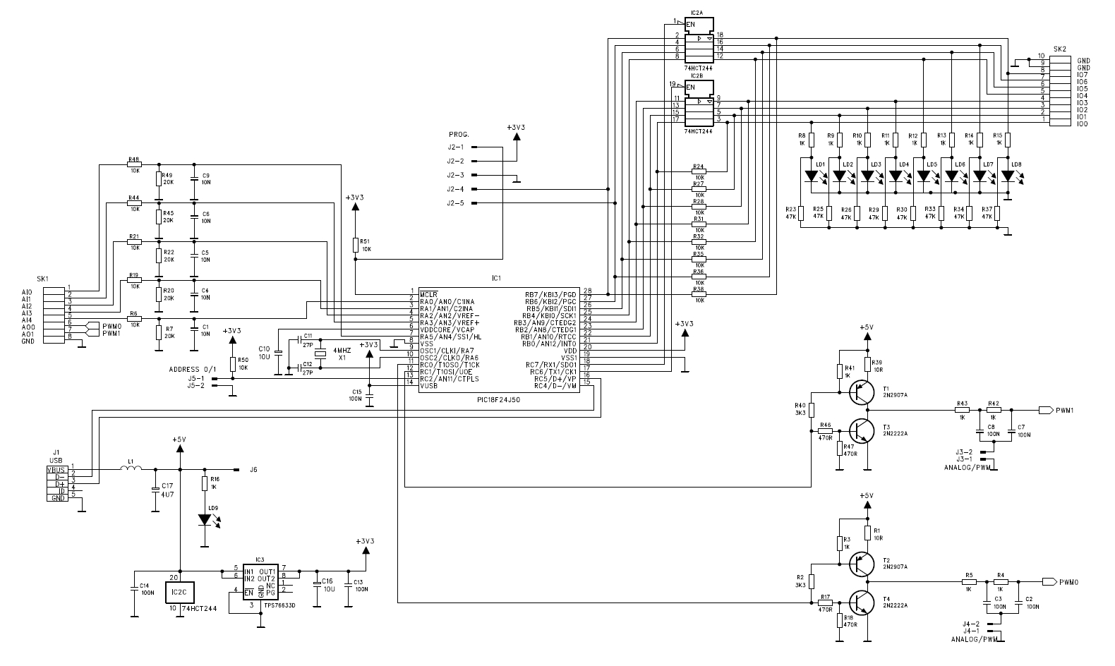 Vm167 Firmware And Schematic Diagram Of The Board
