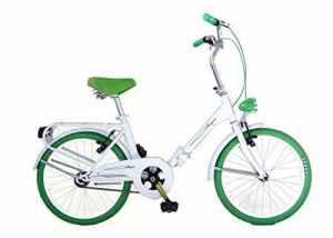 Frejus MICROBIKE GRACIELLA 20″ – Vélo pliant unisex 1 vitesse, acier, blanc / vert