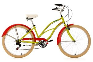 KS Cycling Honolulu Vélo beach cruiser 26″ Vert/Rouge TC 40 cm