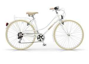 MBM Elite – Vélo de ville pour femme, style vintage, roue de 28″, 6 vitesses (Blanc, H46)