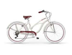 Mbm – Honolulu Femme Custom Cruiser 26» Bicyclette Vélo Femme 6S Ivoire