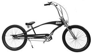 micano Bronx Long Beach Cruiser Bike 66cm Roues Californie américain style de vélo Noir mate