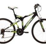 KS Cycling Zodiac Vélo VTT 26″ Noir/Vert 46 cm