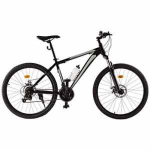 Ultrasport VTT en aluminium 26pouces pour garçon, vélo pour garçon, vélo de randonnée, vélo en aluminium, dérailleur Shimano à 21plateaux, cadre en aluminium, fourche, freins à disque à l'avant et à l'arrière, bouteille