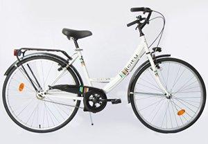 Vélo de Ville 26″ Femme CITY 26» Monovitesse + Porte-Bagage