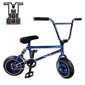 Mini vélo BMX Freestyle–Light Fat Pneus avec 3pce Manivelle & Spring Accessoires pour Pro pour débutant–CES Bad Boy vélos sont parfaits pour Stunt Trick & Racing (Bleu Splash) par Ride 858