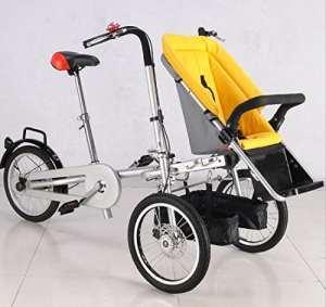 Vélo pliant Vélo 16 pouces Double Frein à Disque Ordinaire Pliant Ordinaire / Standard Acier Mère et enfant Landau , 2