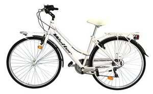 'Vélo de ville city bike 28Welter Esprit couleur blanc taille unique 44(150cm–185cm)