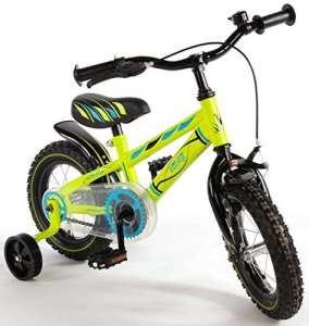 12«Vélo avec démission et roues arrières Vélo pour enfant garçon Vert 71234