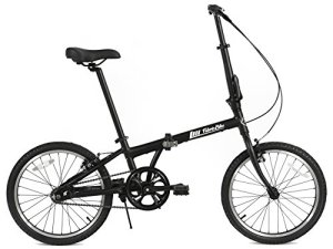 FabricBike Vélo pliant, cadre en alliage, mono-vitesse, 3 couleurs (Fully Matte Black)