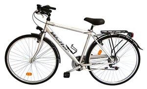 'Vélo de ville city bike 28Welter Esprit Gris Ultralight, Taille unique (170–185cm)